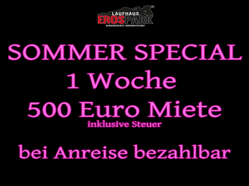 Sommerspecial 500 Euro Miete Woche